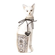 Decorative White Cat 32cm