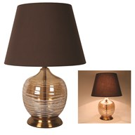 Round Table Lamp in Champagne 57cm