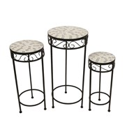 Set of 3 Canterbury Tables/Plant Stands 65/56/48cm