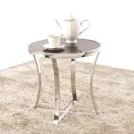 Chrome & Black Glass Lamp Table 48cm