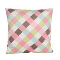 Pink Gingham Cushion 45cm