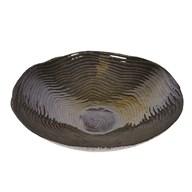 Black & Gold Wave Pattern Plate 35cm
