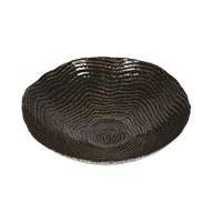 Black & Gold Wave Pattern Plate 25cm