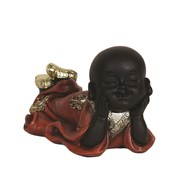 Red Lay On Front Buddha 15cm