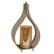 Gold Pillar Holder 26cm