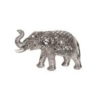 Silver Elephant Decor 31cm