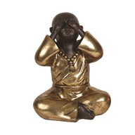 Gold See No Evil Buddha 22cm