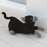 Black Cat Doorstop 29cm