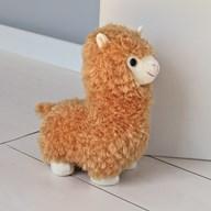 Brown Llama Doorstop 30cm
