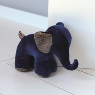 Blue Elephant Doorstop 22cm