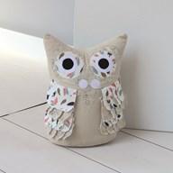 Floral Owl Doorstop 25cm