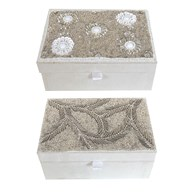 Embroidered Jewellery Box 2 Assorted