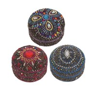 Decorative Round Ring Box 3 Assorted
