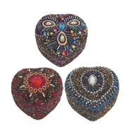 Decorative Heart Ring Box 3 Assorted