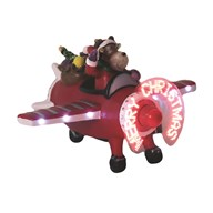 LED Reindeer In Plane 14.5cm