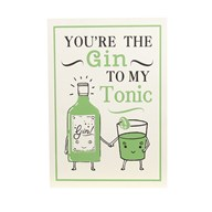 """Gin To My Tonic"" Wall Art 26x37cm"