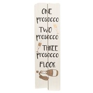 """One Two Three Prosecco Floor"" Wall Art 15x49cm"