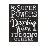 Super Powers & Wine 31x24cm