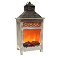 LED Fireplace Lantern 51cm