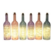 LED Prosecco Bottle 32cm 6 Assorted