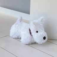 White Terrier Doorstop 22cm