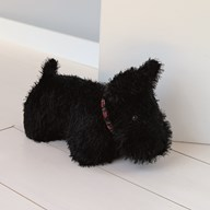 Black Terrier Doorstop 22cm
