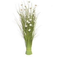 Grass Bundle White Flowers 100cm