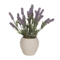 Lavender White Embossed Pot 35cm