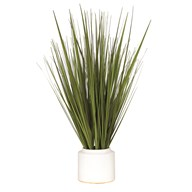 Grass Bundle White Pot 72cm