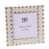 """Silver Plated Pearl Frame 3x3"""""""
