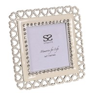 """Silver Plated Heart Frame 3x3"""""""