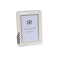 Silver Plated Heart Frame 4x6""