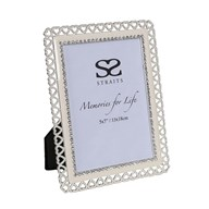 Silver Plated Heart Frame 5x7""