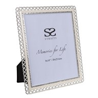 Silver Plated Heart Frame 8x10""