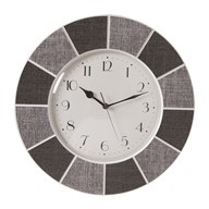 Tile Effect Clock Grey 40cm