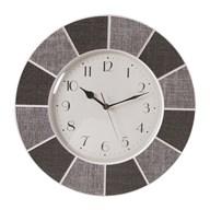 Tile Effect Clock Grey 40cm
