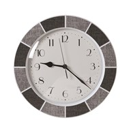 Tile Effect Clock Grey 30cm