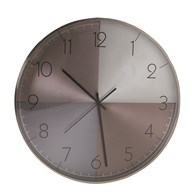 Wall Clock Metallic Effect 40cm