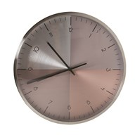 Wall Clock Metallic Effect 35cm