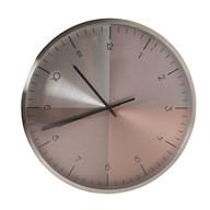Wall Clock Metallic Effect 35cm