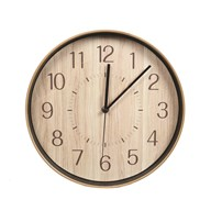 Natural Wooden Look Clock 28cm