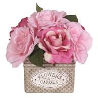 Pink Roses Decorative Pot 20cm