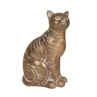 Decorative Resin Cat Gold 20.5cm