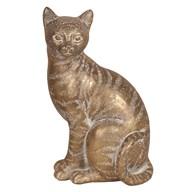 Decorative Resin Cat Gold 25.5cm