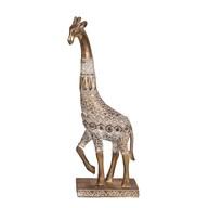 Decorative Resin Giraffe Gold 31cm
