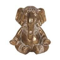 Decorative Resin Elephant Gold 14cm