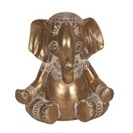 Decorative Resin Elephant Gold 17.5cm