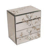 Decorative 4 Drawer Jewellery Box 15 x 16cm