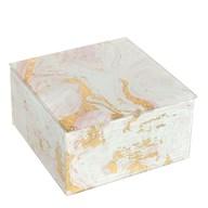 Marble Effect Jewellery Box 12cm