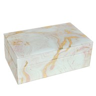 Marble Effect Jewellery Box 21cm
